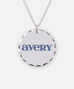 Avery Carved Metal Necklace Circle Charm