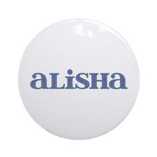 Alisha Carved Metal Round Ornament