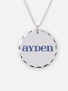 Ayden Carved Metal Necklace