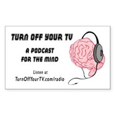 Turn Off Your TV podcast sticker