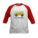 School Bus Personalized Kids Baseball Jersey