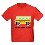 School Bus Personalized Kids Dark T-Shirt