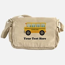 School Bus Personalized Messenger Bag