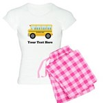 School Bus Personalized Women's Light Pajamas