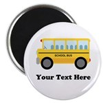 "School Bus Personalized 2.25"" Magnet (10 pack)"