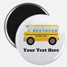 """School Bus Personalized 2.25"""" Magnet (10 pack)"""