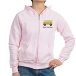 School Bus Personalized Women's Zip Hoodie