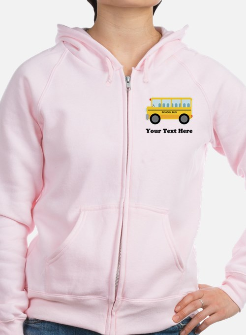 School Bus Personalized Zipped Hoody