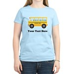 School Bus Personalized Women's Light T-Shirt