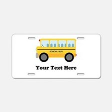 School Bus Personalized Aluminum License Plate