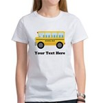 School Bus Personalized Women's T-Shirt