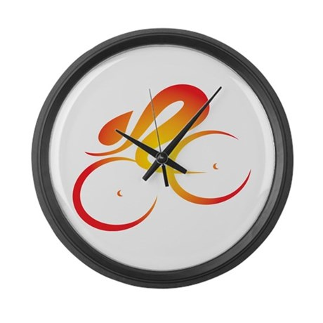 Vivid Speed Cycle Large Wall Clock