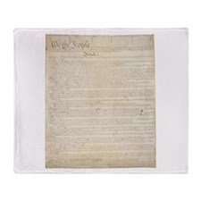 Funny Us constitution Throw Blanket