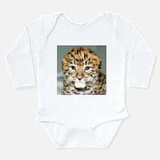 Amur Leopard cub Long Sleeve Infant Bodysuit