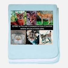 Small Wild Cats baby blanket