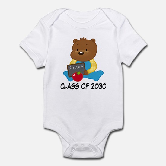 Cute Scholar Bear Class of 2030 Infant Bodysuit