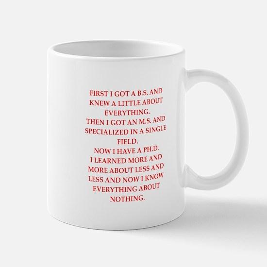phd joke Mug
