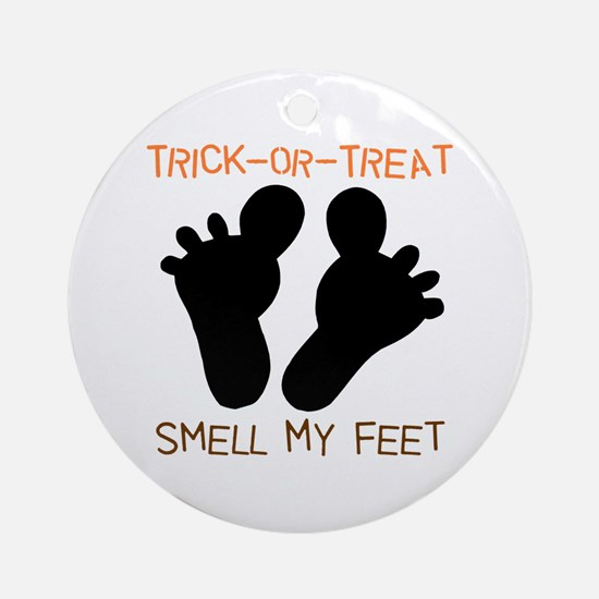 Smell My Feet Halloween Ornament (Round)