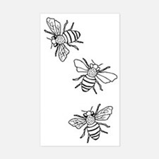 Honey Bees Sticker (Rectangle)