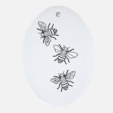 Honey Bees Ornament (Oval)