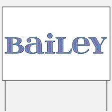 Bailey Blue Glass Yard Sign