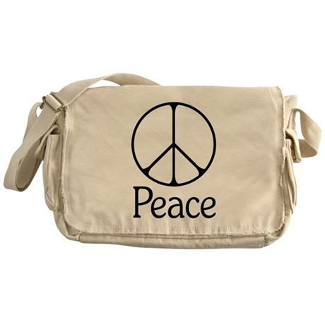 Elegant 'Peace' Sign Messenger Bag