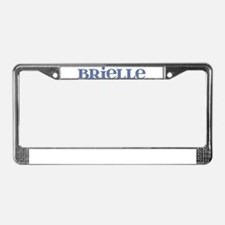 Brielle Blue Glass License Plate Frame