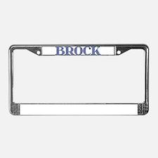 Brock Blue Glass License Plate Frame