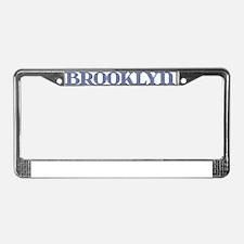 Brooklyn Blue Glass License Plate Frame