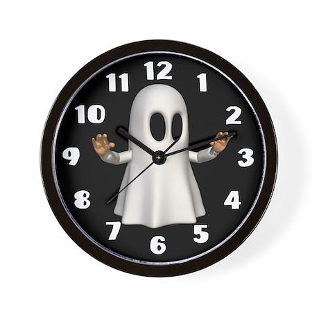 Ghostly Halloween Wall Clock