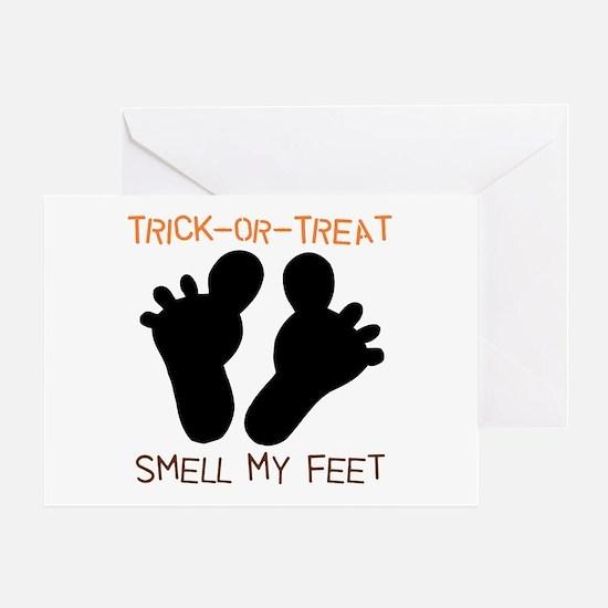 Smell My Feet Halloween Greeting Card