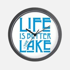 Life is Better at the Lake Wall Clock