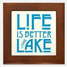 Life is Better at the Lake Framed Tile