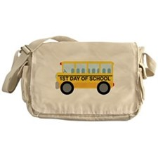 School Bus 1st Day of School Messenger Bag