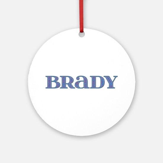 Brady Blue Glass Round Ornament