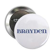 Brayden Blue Glass Button