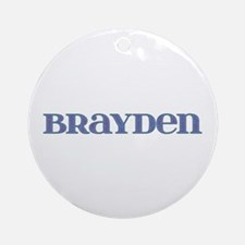 Brayden Blue Glass Round Ornament