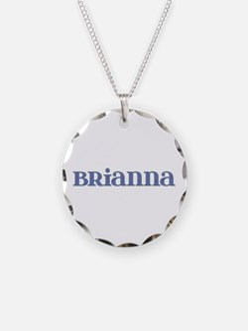 Brianna Blue Glass Necklace