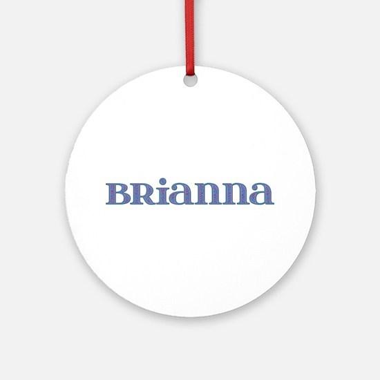 Brianna Blue Glass Round Ornament