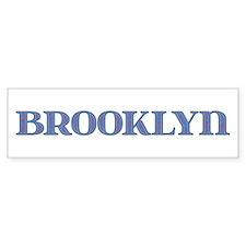 Brooklyn Blue Glass Bumper Bumper Sticker