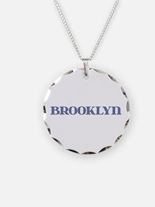Brooklyn Blue Glass Necklace
