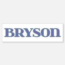 Bryson Blue Glass Bumper Bumper Bumper Sticker