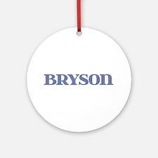Bryson Blue Glass Round Ornament