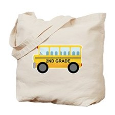 2nd Grade School Bus Tote Bag
