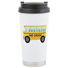 2nd Grade School Bus Travel Mug