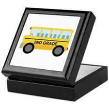 2nd Grade School Bus Keepsake Box