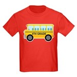 4th Grade School Bus Kids Dark T-Shirt