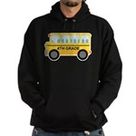 4th Grade School Bus Hoodie (dark)