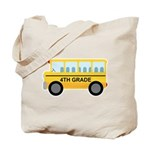 4th Grade School Bus Tote Bag