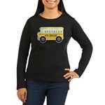 4th Grade School Bus Women's Long Sleeve Dark T-Sh